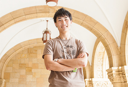 4th Year Student in the Faculty of Economics Shingo Eto